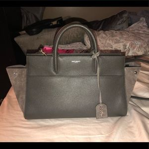 YSL leather suede medium handbag